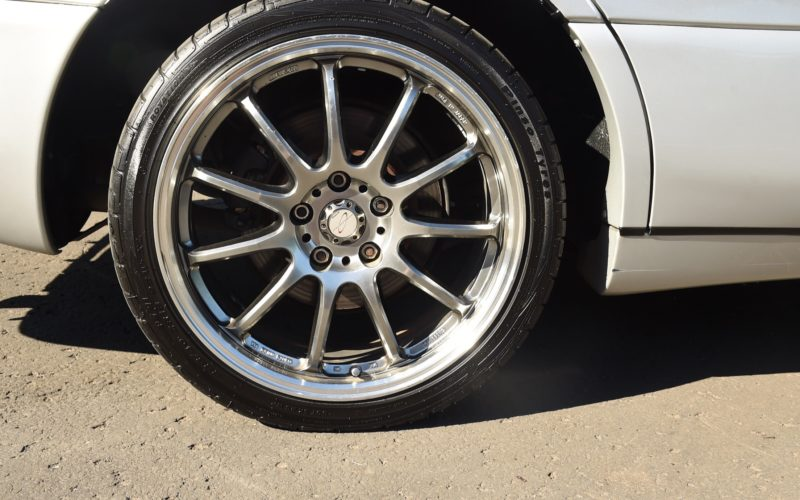 1992 Toyota Aristo silver wheels